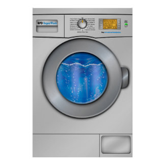 Machine à laver poster