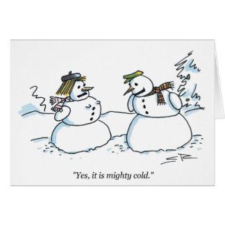 Mächtige kalte Cartoon Weihnachtskarte Karte