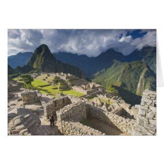 Machu Picchu, alte Ruinen, UNESCO-Welt 3 Karte