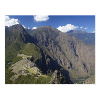 Machu Picchu angesehen von Huayna Picchu, UNESCO Postkarte