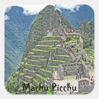 Machu Picchu Quadratischer Aufkleber