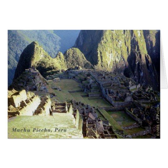'Machu Picchu bei Dawn Karte