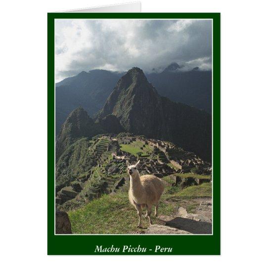 Machu Picchu Peru - leere Karte