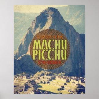 Machu Picchu Peru Reise-Plakat Poster