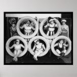 Mack Sennett, der Schönheiten 1922 badet Plakatdrucke