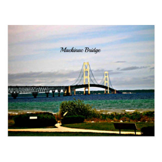 Mackinac Brücke, Mackinac Insel Postkarte