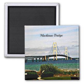 Mackinac Brücke, Mackinac Insel Quadratischer Magnet