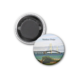 Mackinac Brücke, Mackinac Insel Runder Magnet 2,5 Cm