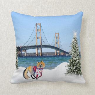 Mackinac Brücken-Weihnachtskissen Kissen