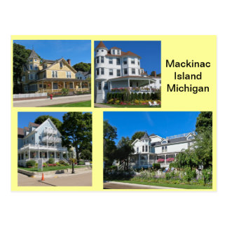 Mackinac Insel-Gebäude Postkarte