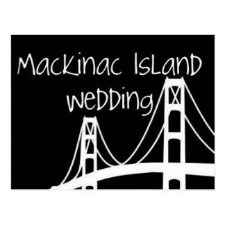 Mackinac Insel-Hochzeit Postkarte