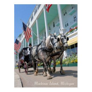 Mackinac Insel, Michigan - großartiges Hotel Postkarte