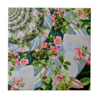 Mackinac Rose Mandala 3 Kleine Quadratische Fliese
