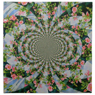 Mackinac Rose Mandala Stoffserviette
