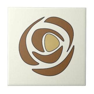 Mackinrose kupferne Kunst Nouveau Rosen Keramikfliese