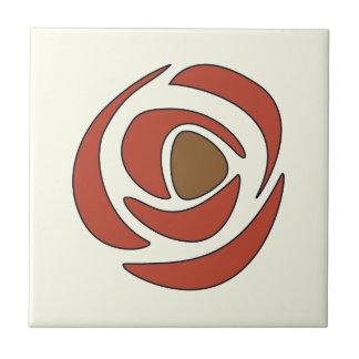 Mackintosh-Granatapfel-Kunst Nouveau Rosen Kleine Quadratische Fliese