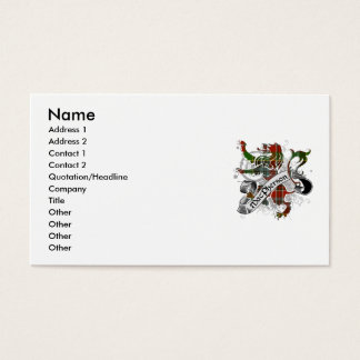 MacPhersontartan-Löwe Visitenkarten