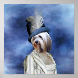 Madame Canvas Print de Terrier tibétain Glamoure Posters