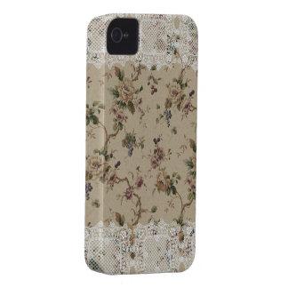 Madame de dentelle florale vintage Blackberry Bold Coque Case-Mate iPhone 4