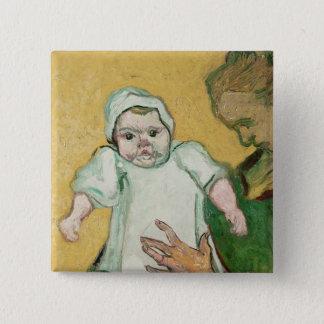 Madame Roulin und ihr Baby Vincent van Gogh-| Quadratischer Button 5,1 Cm
