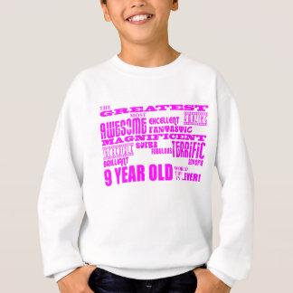 Mädchen-9. Geburtstage: Rosa bestste 9-Jährige Sweatshirt