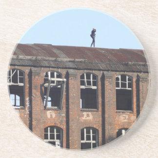 Mädchen auf dem Dach 02,2, verlorene Plätze Getränkeuntersetzer