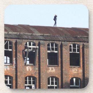 Mädchen auf dem Dach 02,2, verlorene Plätze Untersetzer