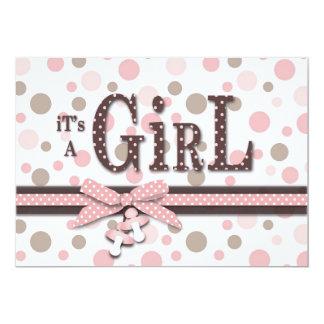 Mädchen-Babyparty-Einladung 12,7 X 17,8 Cm Einladungskarte