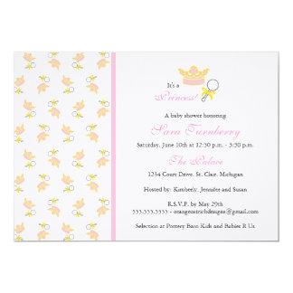 Mädchen-Babyparty-Einladung - kleine Prinzessin 12,7 X 17,8 Cm Einladungskarte