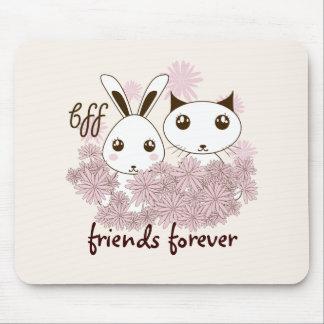 Mädchen-beste Freund-Tier-personalisierte Kinder Mousepad