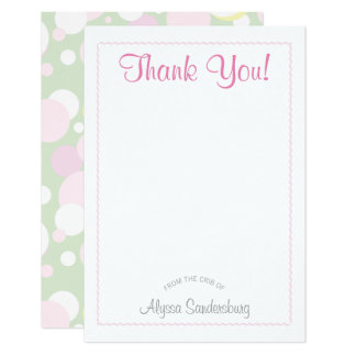 Mädchen-Blasen-Babyparty danken Ihnen zu kardieren 8,9 X 12,7 Cm Einladungskarte