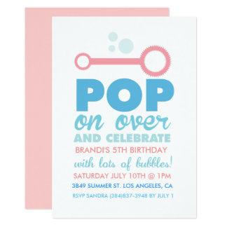 (Mädchen-) Blasen-Party-Themed Geburtstag laden Karte