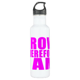 Mädchen-CrewRowers: Ich rudere deshalb mich bin Trinkflaschen