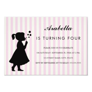 Mädchen, das bubbles| Geburtstags-Party Einladung