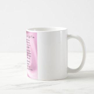 Mädchen des Ehrengedichtes - rosa Seide Kaffeetasse