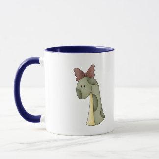 Mädchen-Dinosaurier Tasse