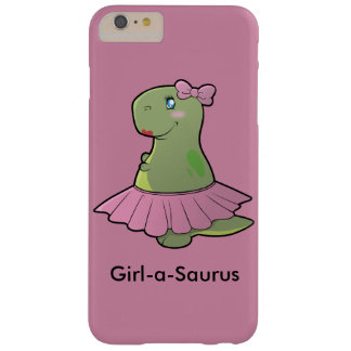 Mädchen-ein-Saurus Dinosaurier T-Rex Barely There iPhone 6 Plus Hülle