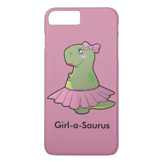 Mädchen-ein-Saurus Dinosaurier T-Rex iPhone 7 Plus Hülle