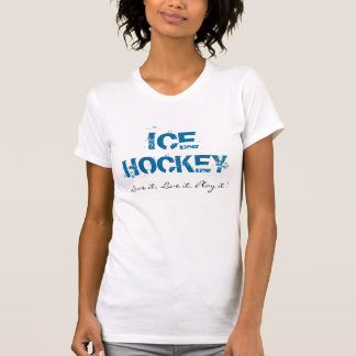 Mädchen-Eis-Hockey-T - Shirt