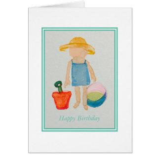 Mädchen-Geburtstags-Karte Grußkarte