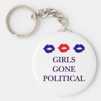 Mädchen gegangenes politisches Logo Keychain Standard Runder Schlüsselanhänger