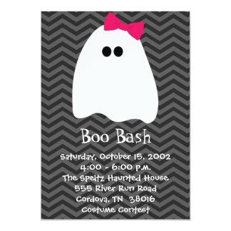 Mädchen-Geist-Halloween-Einladung Karte