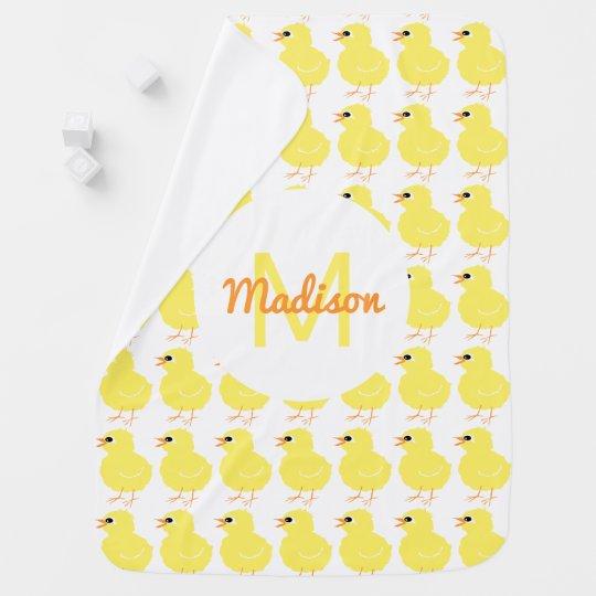 Mädchen-gelbes Küken-Muster-tierisches mit Babydecke