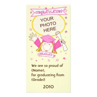 Mädchen-graduierter Kindergarten/VorschulFoto-Kart Bildkarte