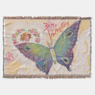 Mädchen-Herz-Rosen-SchmetterlingValentine Decke