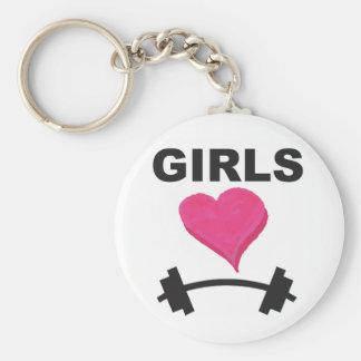 Mädchen-HerzBarbells - Weightlifting-Liebe Schlüsselanhänger