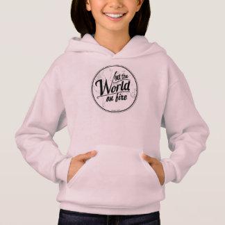 Mädchen Hoodie-Set die Welt auf Feuer Hoodie