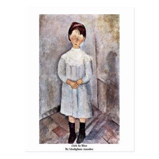 Mädchen im Blau durch Modigliani Amedeo Postkarte