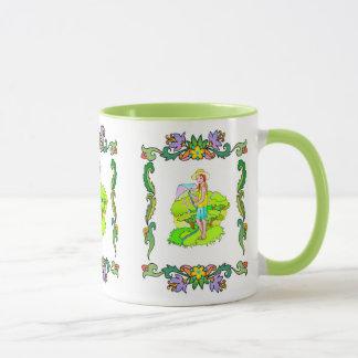 Mädchen im Garten Tasse