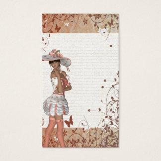 Mädchen im Sommerhut Visitenkarte